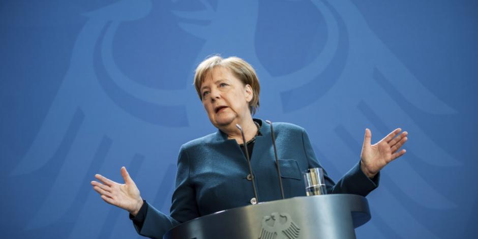 Angela Merkel da negativo a primer examen de coronavirus