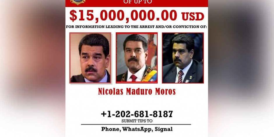 Ficha DEA a Maduro por narcoterrorismo y corrupción