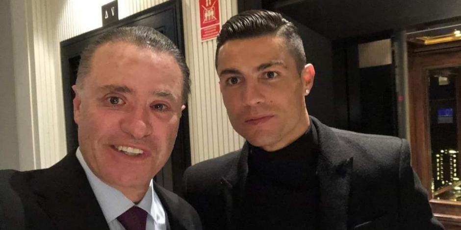 Cristiano Ronaldo con el gobernador de Sinaloa