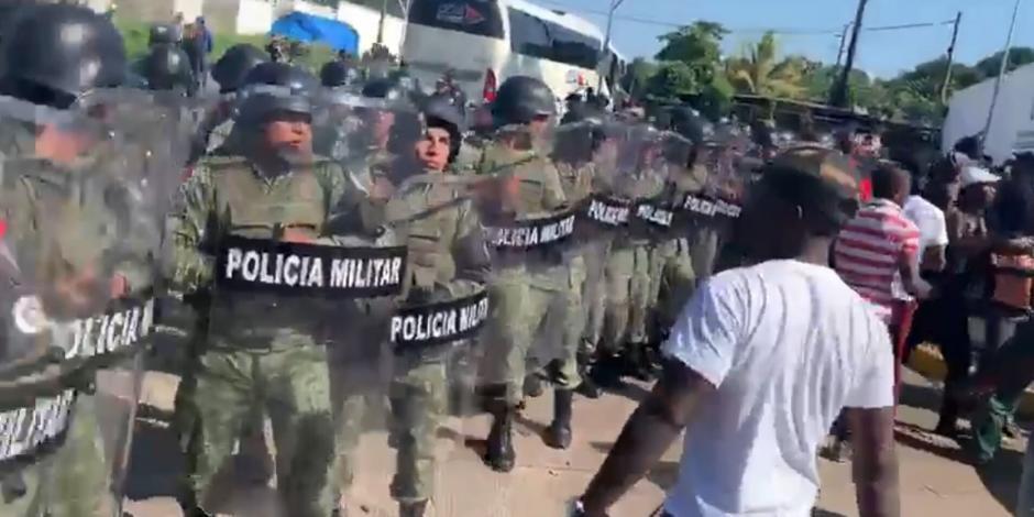 Investiga SSPC enfrentamiento entre policías, militares y migrantes