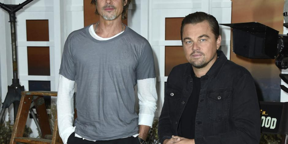 "Brad Pitt y DiCaprio analizan la industria en ""Once Upon a Time in Hollywood"""