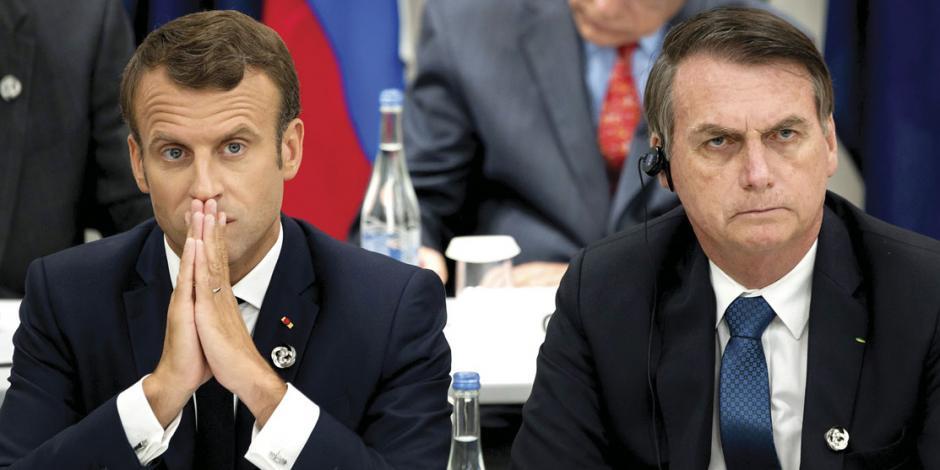 Bolsonaro y Macron se calientan... y mientras la Amazonia no para de arder