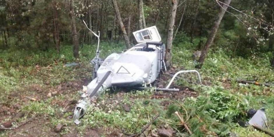 Muere piloto de Sedena en desplome de helicóptero en Durango