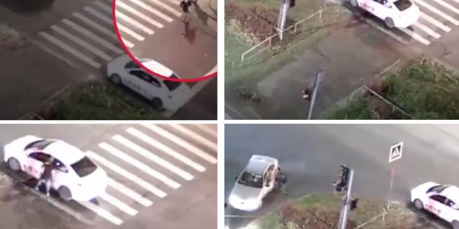 Grand Theft Auto de la vida real: lo golpean y le roban su auto VIDEO
