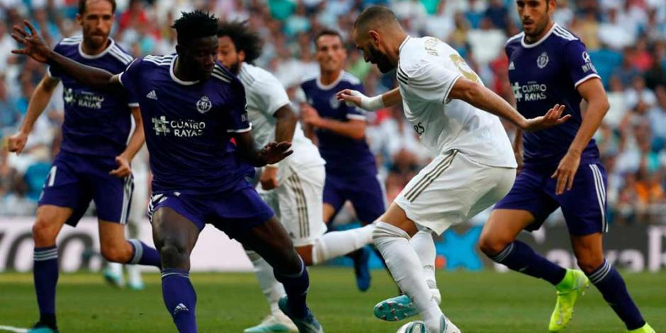 El Real Madrid deja ir triunfo ante el Valladolid a dos minutos del final
