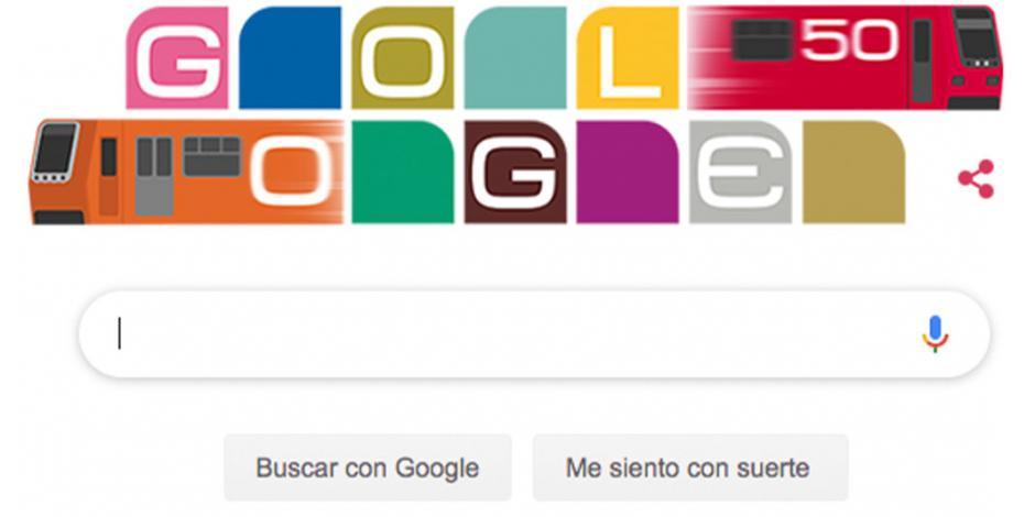 Google festeja los 50 años del Metro con un doodle