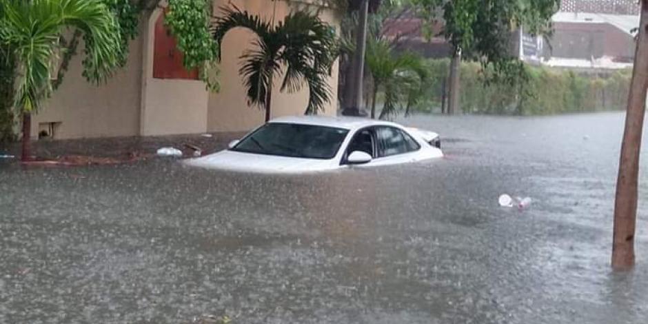 Mazatlán bajo el agua: en 6 hrs cayó una cuarta parte de lo que llueve en 1 año