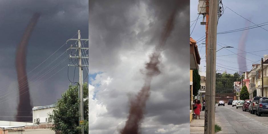 VIDEOS: Tornado sorprende a habitantes de Fresnillo, Zacatecas