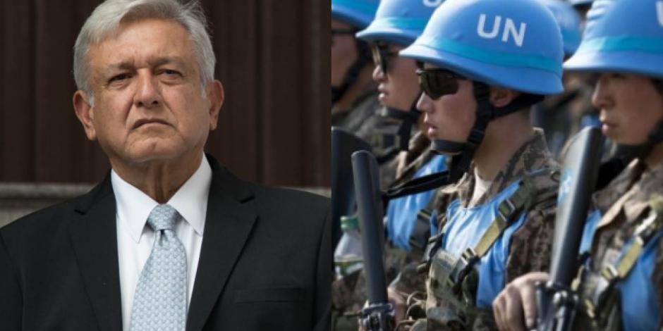 "Guardia Nacional actuará como ""Cascos Azules"" de la ONU, asegura AMLO"