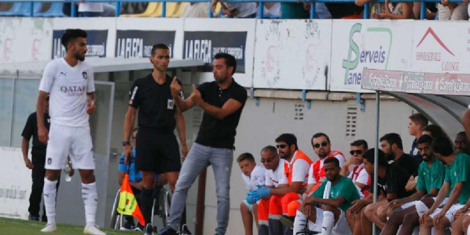 Xavi debuta como director técnico ante equipo catalán