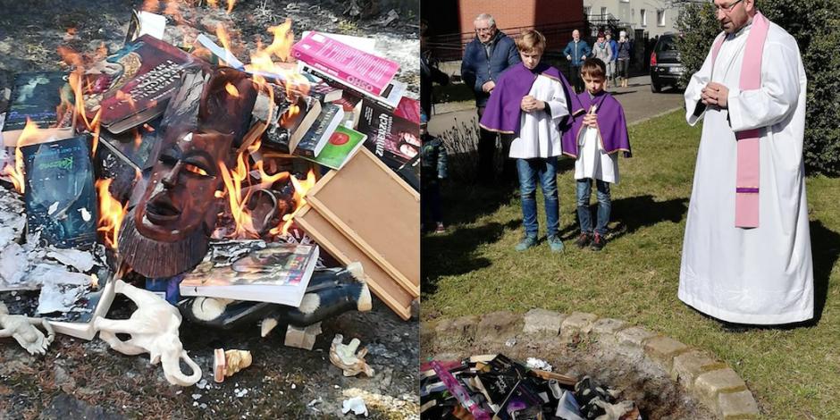 """Sacerdotes queman libros de """"Harry Potter"""" por"""