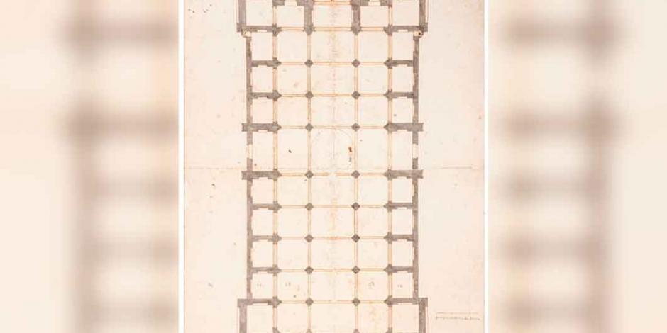 Subastan plano original de la Catedral Metropolitana, con 450 años de antigüedad