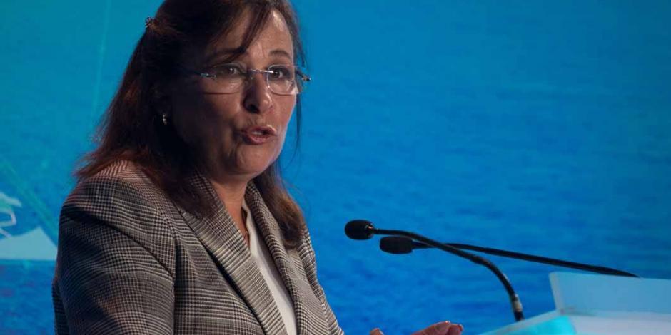 Rocío Nahle supervisa avances de obra de refinería en Dos Bocas