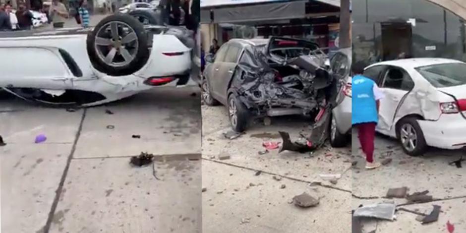 Se desmaya al volante y vuelca su Porsche de millón y medio de pesos