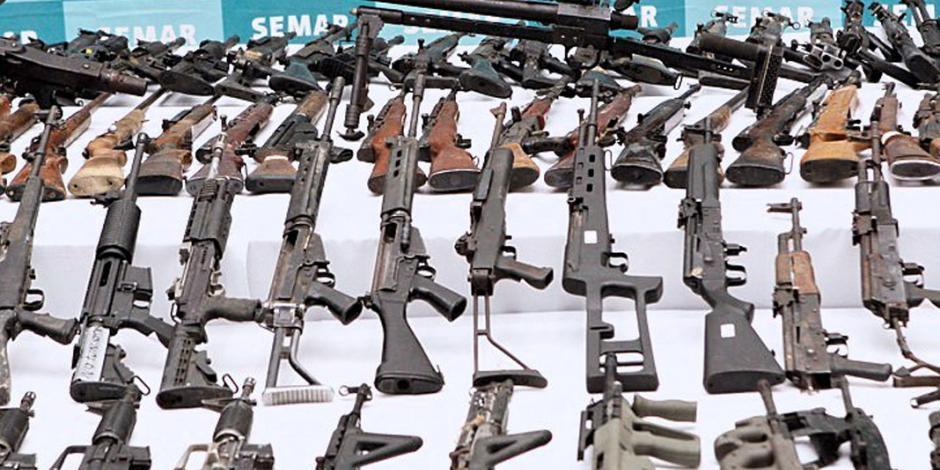Perdidas, 1.6 millones de armas ilegales que equiparían a 6 ejércitos