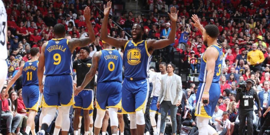 Warriors igualan Finales de la NBA tras vencer 109-104 a Raptors