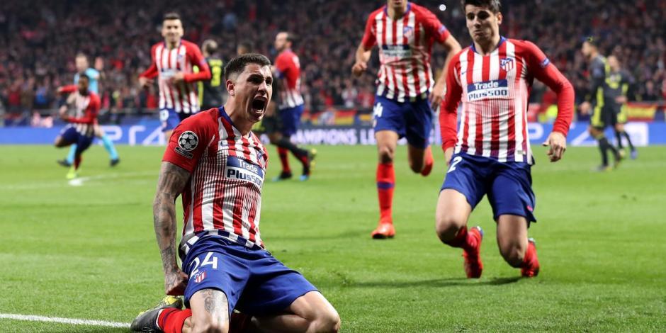 Atlético vence 2-0 a la Juve con goles de Giménez y Godín