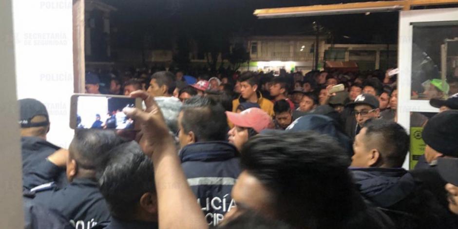 Muere linchado secuestrador en Santiago Tianguistenco