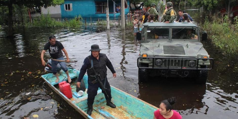 Emiten declaratoria de emergencia por lluvias en Tabasco