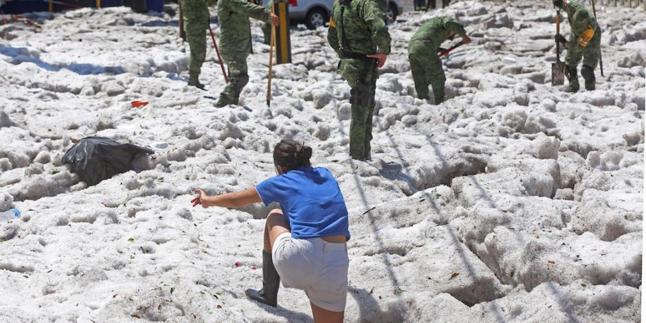 Ejército aplica Plan DN-III tras granizada en Jalisco