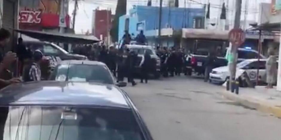 Persecución y balacera en Puebla deja un policía muerto