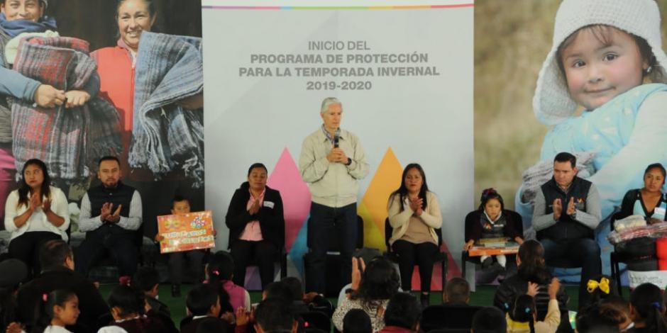 Alfredo Del Mazo da inicio a programa de Protección para la Temporada Invernal