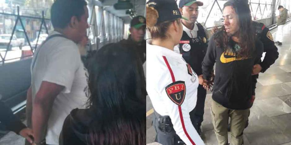 Acoso sexual en el Metro termina en riña