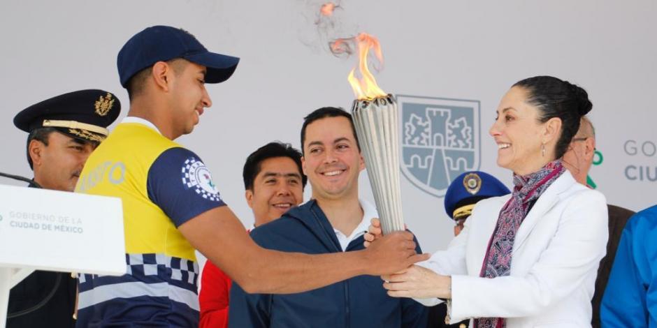 Inaugura Sheinbaum VII Juegos Latinoamericanos de Policías y Bomberos