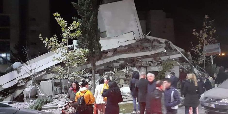Terremoto de 6.4 grados colapsa edificios en Albania