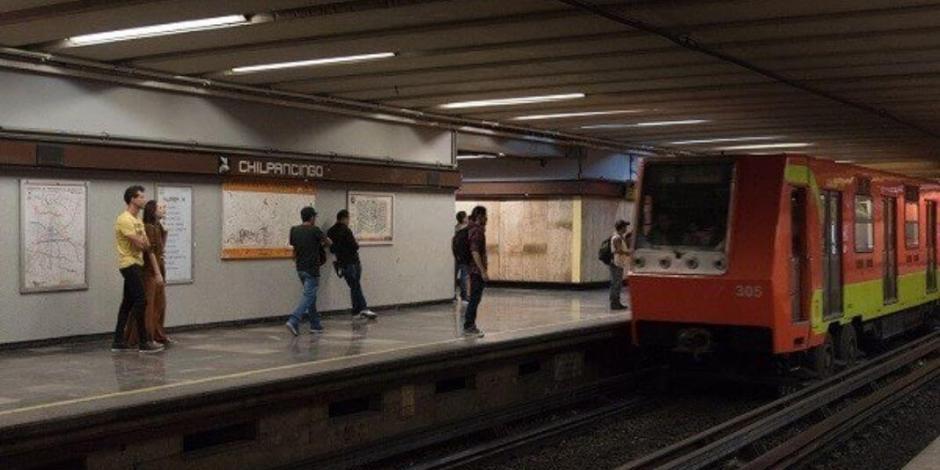 Muere una persona tras arrojarse a las vías del Metro Chilpancingo