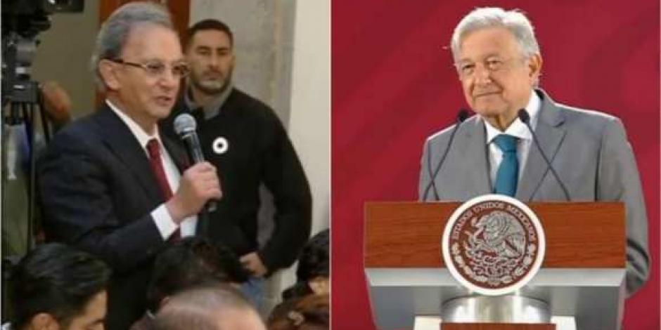 VIDEO: En la mañanera, Nino Canún acusa censura de expresidentes