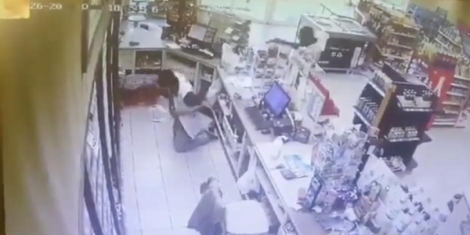 Detienen a presunto homicida de cajero que murió tras asalto en tienda de Colima
