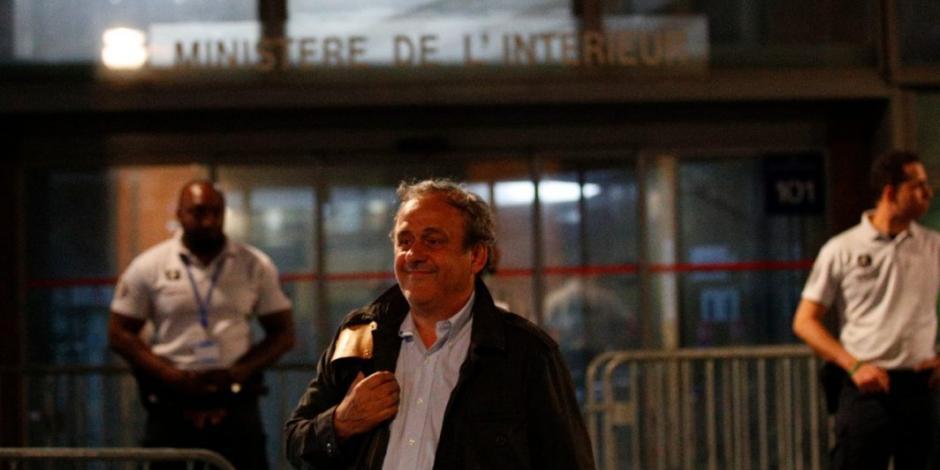 Michel Platini fue liberado en Francia después de un interrogatorio