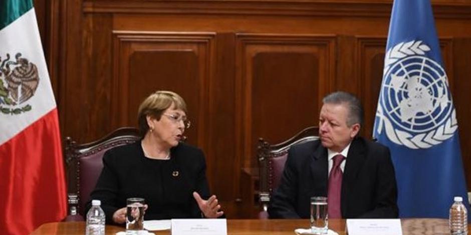 Arturo Zaldívar y Michelle Bachelet dialogan sobre retos en derechos humanos