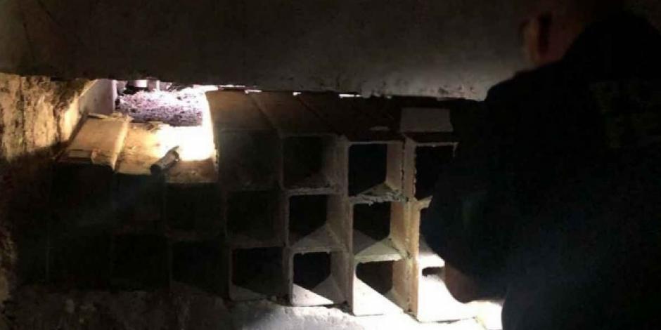 Encuentran túnel en Sonora que conecta con Estados Unidos