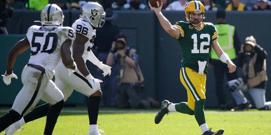 Aaron Rodgers pasa la barrera de 350 yardas en victoria de Packers