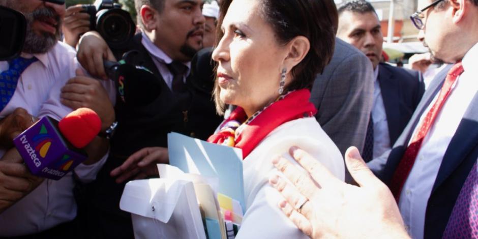 Ingresan a Rosario Robles al penal de Santa Martha Acatitla