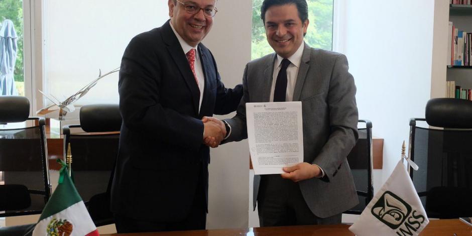 Zoé Robledo y Germán Martínez completan entrega-recepción del IMSS