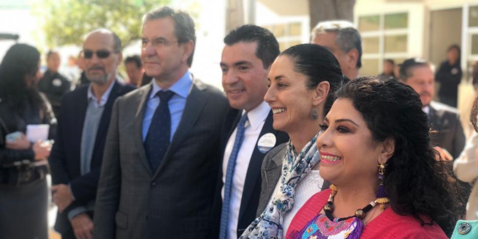Esteban Moctezuma y Sheinbaum reinauguran primaria en Iztapalapa