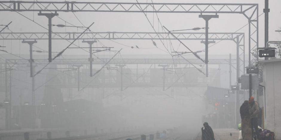 Nueva Delhi a 1 grado centígrado y con esmog hasta Año Nuevo