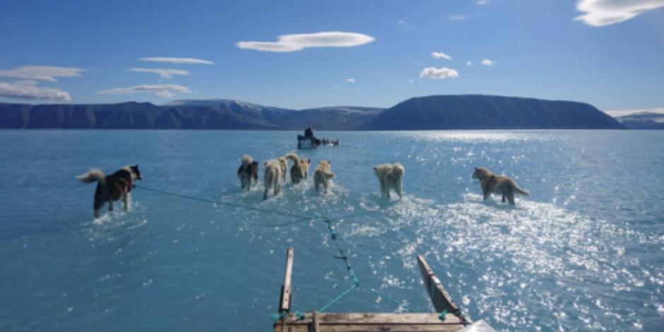 Fotografía alerta sobre deshielo en Groenlandia