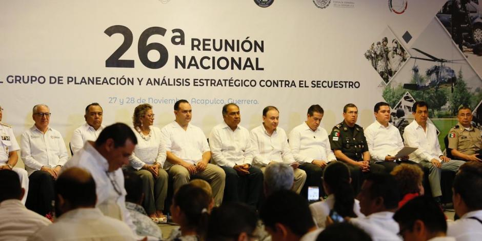 Inauguran Astudillo y Durazo 26a reunión nacional antisecuestro