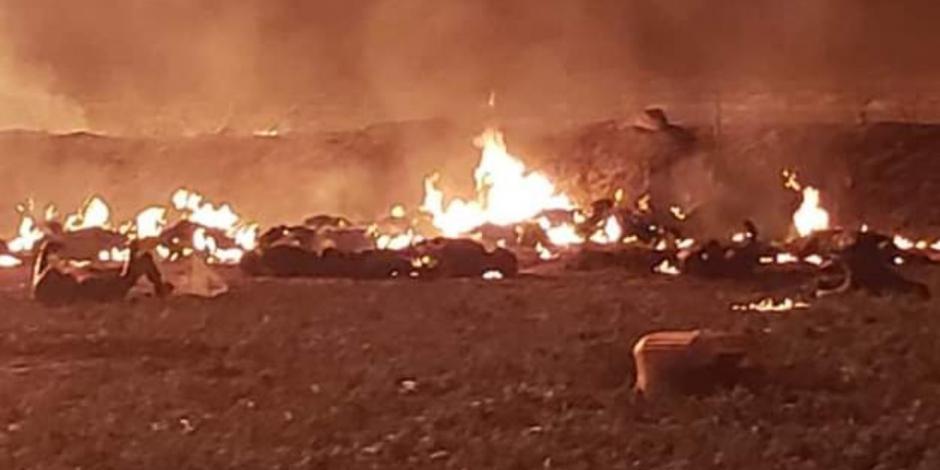 Pemex implementa plan de Respuesta y Atencion por explosión de ducto en Hidalgo