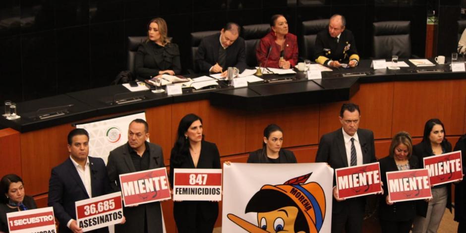 Oposición en el Senado arremete contra Alfonso Durazo (FOTOS)