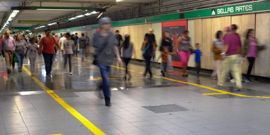 Por adecuaciones, Metro usa ruta alterna en transbordo de Bellas Artes