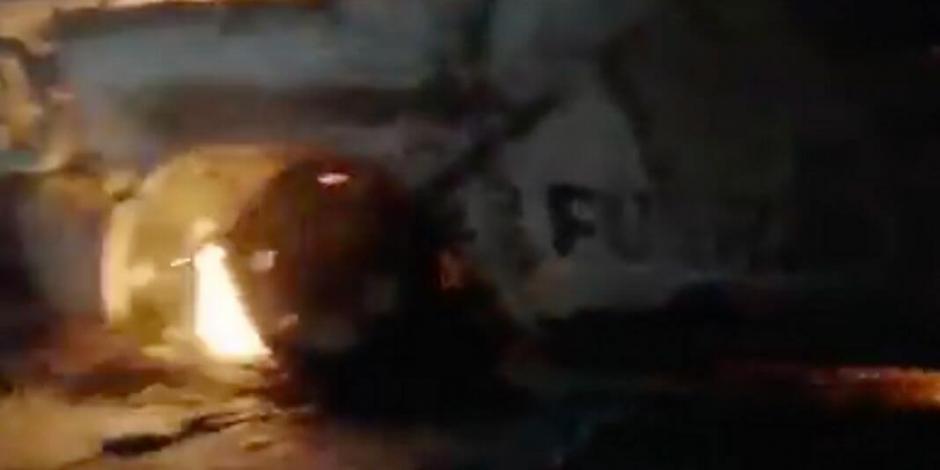 Cártel del Norestes destruye patrulla de Fuerza Civil en Nuevo León