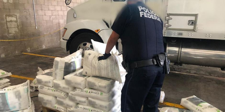Hallan 540 kgs de droga ocultos en costales de fertilizante en Hermosillo