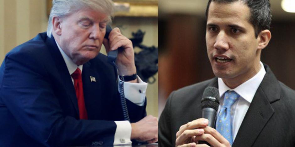 Donald Trump habla por teléfono con Juan Guaidó