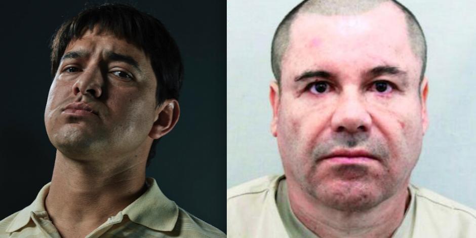 """FOTOS: Actor que interpreta a """"El Chapo"""", cara a cara con el verdadero Guzmán en juicio"""
