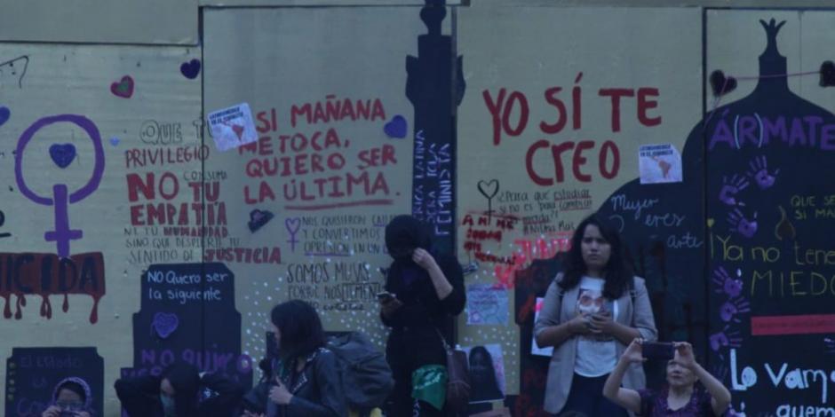Con más de 3 mil participantes y sin detenciones termina marcha feminista